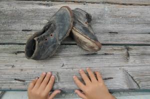Terra nelle scarpe