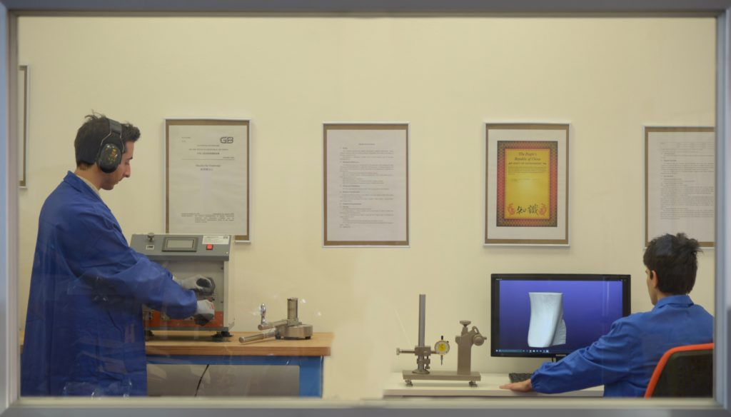 Il laboratorio controllo qualità